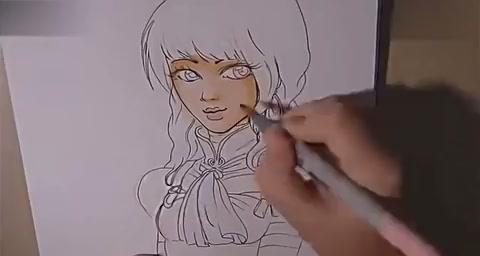 铅笔手绘漫画教程 copics马克笔上色方法