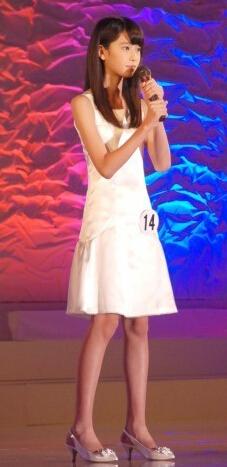12岁初中女生高桥光获得本次日本国民美少女称号!