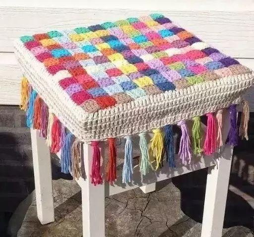 教你编织钩针坐垫,手把手学会!