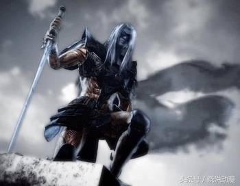 手绘持剑勇士