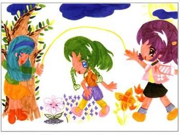 儿童创意彩笔画:我喜欢的游戏,狼与七只小羊,画画听过的故事