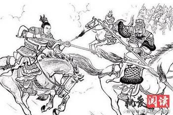 古人骑马狂奔简笔画