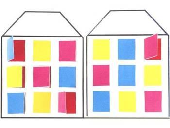 数学手工制作房子