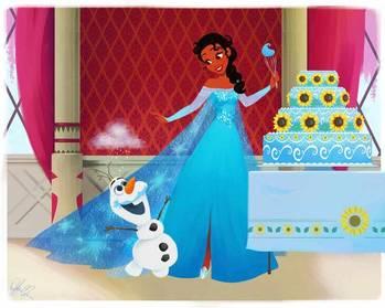 如果迪士尼公主互换角色 在彼此的动画场景中