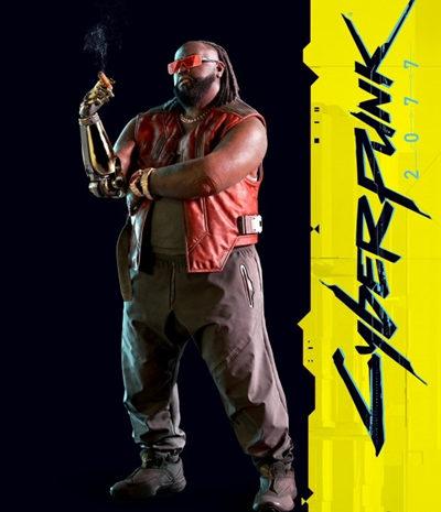 《赛博朋克2077》官方角色图片发布