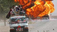 巴基斯坦油罐车起火致158人死