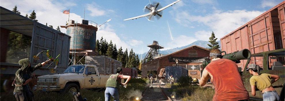 《孤岛惊魂5》新演示 NPC数量众多、榴弹满天飞