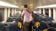 俩男子争执中突然拥抱